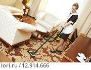Купить «hotel cleaning service», фото № 12914666, снято 21 апреля 2014 г. (c) Дмитрий Калиновский / Фотобанк Лори