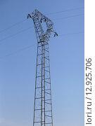 Купить «Опора линии электропередач», фото № 12925706, снято 1 мая 2013 г. (c) Надежда Болотина / Фотобанк Лори