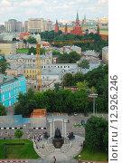 Купить «Вид на Москву со смотровой площадки Храма Христа Спасителя», эксклюзивное фото № 12926246, снято 12 июля 2009 г. (c) lana1501 / Фотобанк Лори
