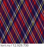 Купить «Rhombic fabric seamless texture», фото № 12929730, снято 16 февраля 2019 г. (c) PantherMedia / Фотобанк Лори