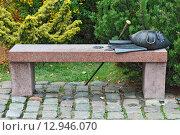 Купить «Скамья Канта. Калининград (до 1946 года Кёнигсберг), Россия», фото № 12946070, снято 24 октября 2015 г. (c) Сергей Трофименко / Фотобанк Лори