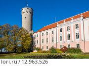 Купить «Башня «Длинный Герман» и здание парламента. Таллин, Эстония», фото № 12963526, снято 28 октября 2015 г. (c) Andrei Nekrassov / Фотобанк Лори