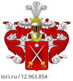 Купить «Герб династии Мальцовых», иллюстрация № 12963854 (c) Владимир Макеев / Фотобанк Лори
