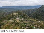 Вид с горы на Новый Афон, Абхазия. Стоковое фото, фотограф Наталья Чуб / Фотобанк Лори