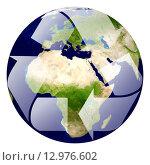 Купить «Recycle logo with tree and earth. Eco globe with recycle signs.», фото № 12976602, снято 19 июля 2019 г. (c) PantherMedia / Фотобанк Лори