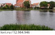 Купить «Church of Sts. Anna located in Barczewo, Poland», видеоролик № 12984946, снято 13 октября 2015 г. (c) BestPhotoStudio / Фотобанк Лори