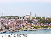 Купить «Вид на Стамбул и мечеть Сулеймания», фото № 12987786, снято 13 мая 2015 г. (c) Наталья Волкова / Фотобанк Лори
