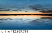 Зеркальный закат. Стоковое фото, фотограф Максим Судоргин / Фотобанк Лори