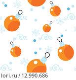 Купить «Бесшовный новогодний паттерн», иллюстрация № 12990686 (c) Елисеева Екатерина / Фотобанк Лори