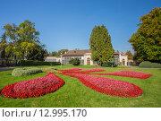 Цветочные клумбы в Королевском саду в Праге, Чешская Республика (2014 год). Редакционное фото, фотограф g.bruev / Фотобанк Лори