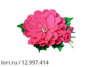 Купить «Искусственный цветок ручной работы», фото № 12997414, снято 10 июля 2015 г. (c) Сергей Завьялов / Фотобанк Лори