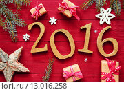 Купить «2016 New Year And Christmas Design», фото № 13016258, снято 15 июля 2018 г. (c) PantherMedia / Фотобанк Лори