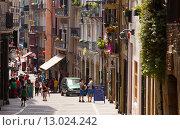 Street view of Pamplona, Navarre (2015 год). Редакционное фото, фотограф Яков Филимонов / Фотобанк Лори
