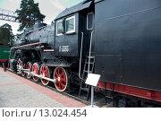 Грузовой паровоз серии Л №3393, Новосибирский музей железнодорожной техники (2011 год). Редакционное фото, фотограф Василий Бронников / Фотобанк Лори