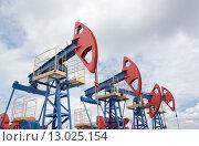 Купить «Нефтяные насосы», фото № 13025154, снято 12 июня 2010 г. (c) Георгий Shpade / Фотобанк Лори