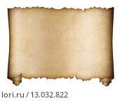 Купить «Свиток пергамента на белом фоне», иллюстрация № 13032822 (c) Андрей Кузьмин / Фотобанк Лори