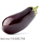 Купить «Eggplant or aubergine vegetable isolated on white background cutout», фото № 13035718, снято 3 июня 2014 г. (c) Natalja Stotika / Фотобанк Лори
