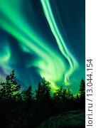 Северное сияние. Стоковое фото, фотограф Petri Jauhiainen / Фотобанк Лори