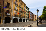 Day view of street in Estella-Lizarra. Navarre. Стоковое фото, фотограф Яков Филимонов / Фотобанк Лори