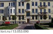 Soviet-built building in Minsk, Belarus, видеоролик № 13053090, снято 8 сентября 2015 г. (c) BestPhotoStudio / Фотобанк Лори