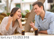 Купить «Couple dating and flirting in a restaurant», фото № 13053918, снято 27 апреля 2018 г. (c) PantherMedia / Фотобанк Лори