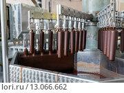 Автоматическая линия по производству мороженого эскимо, фото № 13066662, снято 13 октября 2015 г. (c) Евгений Ткачёв / Фотобанк Лори