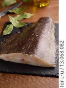 Купить «Raw Atlantic halibut», фото № 13068082, снято 8 ноября 2015 г. (c) Stockphoto / Фотобанк Лори