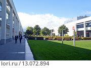 Купить «Выставочный центр Messe Munchen (New Munich Trade Fair Centre) - Мюнхен, Германия», эксклюзивное фото № 13072894, снято 17 сентября 2013 г. (c) Александр Замараев / Фотобанк Лори