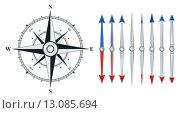 Купить «compass with similar arrows isolated», иллюстрация № 13085694 (c) PantherMedia / Фотобанк Лори