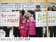 Купить «Митинг «ПРОТИВ УПЛОТНИТЕЛЬНОЙ ЗАСТРОЙКИ ПЕТРОЗАВОДСКА» 21 ноября 2015 года», эксклюзивное фото № 13097494, снято 21 ноября 2015 г. (c) Сергей Цепек / Фотобанк Лори