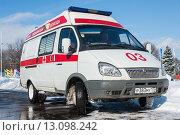 Купить «Скорая помощь. Автомобиль 03», фото № 13098242, снято 22 февраля 2010 г. (c) Михаил Михин / Фотобанк Лори