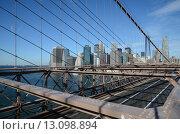 Нью-Йорк. Бруклинский мост (2015 год). Редакционное фото, фотограф Дмитрий Муромцев / Фотобанк Лори