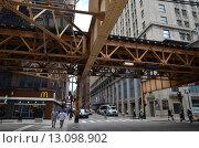 Чикаго. Улица в центре города (2015 год). Редакционное фото, фотограф Дмитрий Муромцев / Фотобанк Лори