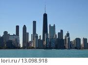 Чикаго. Вид на город с озера Мичиган (2015 год). Стоковое фото, фотограф Дмитрий Муромцев / Фотобанк Лори