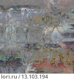 Купить «art abstract acrylic and pencil background in grey and blue colors with damask pattern», фото № 13103194, снято 22 марта 2019 г. (c) Ingram Publishing / Фотобанк Лори