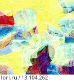 Купить «art abstract colorful chaotic waves pattern, background in yellow and blue colors», фото № 13104262, снято 19 января 2019 г. (c) Ingram Publishing / Фотобанк Лори