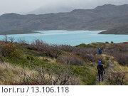 Купить «Hikers at W-Trek,», фото № 13106118, снято 27 ноября 2013 г. (c) Ingram Publishing / Фотобанк Лори