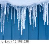 Купить «Сосульки в инее», фото № 13108338, снято 22 ноября 2015 г. (c) Икан Леонид / Фотобанк Лори