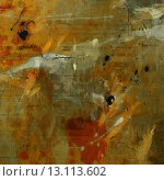 art abstract acrylic pastel colors background with green, orange, red and brown blots. Стоковое фото, агентство Ingram Publishing / Фотобанк Лори
