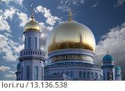 Купить «Московская соборная мечеть, одна из крупнейших мечетей России и Европы, Москва», фото № 13136538, снято 6 ноября 2015 г. (c) Владимир Журавлев / Фотобанк Лори