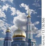 Купить «Московская соборная мечеть, Москва», фото № 13136566, снято 6 ноября 2015 г. (c) Владимир Журавлев / Фотобанк Лори