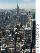 Купить «Aerial view of buildings in Midtown Manhattan», фото № 13206510, снято 7 мая 2014 г. (c) Ingram Publishing / Фотобанк Лори