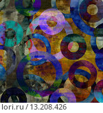 Купить «art abstract acrylic and pencil background in rainbow colors with violet and blue circles», фото № 13208426, снято 17 декабря 2018 г. (c) Ingram Publishing / Фотобанк Лори
