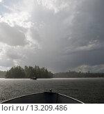 Купить «Boats in a lake, Lake Of The Woods, Ontario, Canada», фото № 13209486, снято 1 сентября 2014 г. (c) Ingram Publishing / Фотобанк Лори