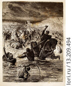 Купить «France. History.  ´Les Anglais passant la Somme au gué de la Blanque-Taque´: The Hundred Years´ War French: Guerre de Cent Ans was a series of separate...», фото № 13209494, снято 5 июля 2020 г. (c) age Fotostock / Фотобанк Лори