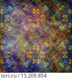 Купить «art abstract acrylic and pencil colorful background with damask pattern in violet, yellow, green and brown colors», фото № 13209854, снято 19 января 2019 г. (c) Ingram Publishing / Фотобанк Лори