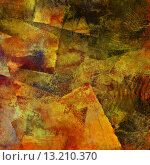 Купить «art abstract acrylic and watercolor background in beige, brown, orange, green and black colors with squares», фото № 13210370, снято 18 октября 2019 г. (c) Ingram Publishing / Фотобанк Лори
