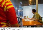 Купить «Castellers de Barcelona training ´Castellers´ building human tower, a Catalan tradition Headquarters of Castellers de Barcelona Barcelona, Spain», фото № 13215318, снято 25 февраля 2020 г. (c) age Fotostock / Фотобанк Лори