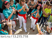 Купить «`Grallers´of Castellers de Sant Pere i Sant Pau Musicians ´Castellers´ is a Catalan tradition Festa de Santa Tecla, city festival  Plaça de la Font Tarragona, Spain», фото № 13215718, снято 25 февраля 2020 г. (c) age Fotostock / Фотобанк Лори