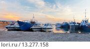 Купить «Байкал. Ольхон. Корабли в Хужире летом на закате», фото № 13277158, снято 21 июня 2014 г. (c) Виктория Катьянова / Фотобанк Лори